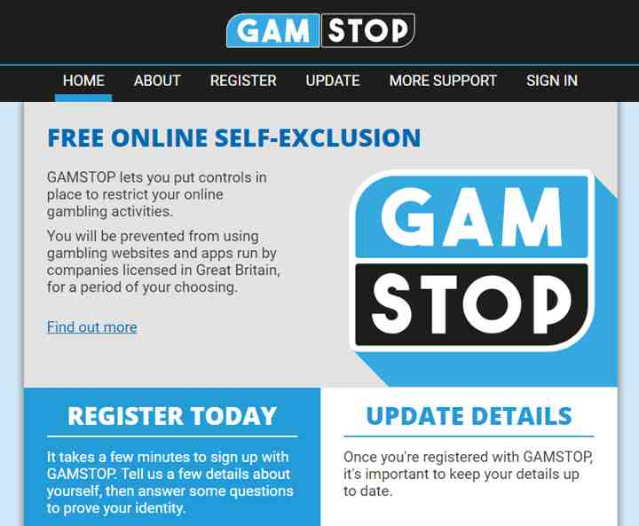 GAMSTOP lets you put controls in place to restrict your online gambling activities.